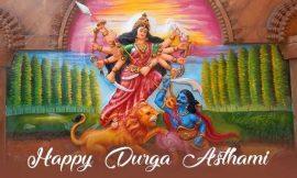 Durga puja ashtami wishes images and quotes in hindi | Happy Durga Ashtami 2021: Best Quotes, WhatsApp Messages and Greetings | Happy Durga Ashtami | thefunquotes.com