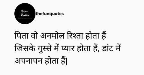 30 best father status in hindi with image/ Two Line Status